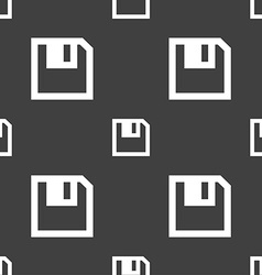 Floppy icon flat modern design seamless pattern on vector