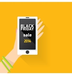 Black friday online sale concept vector
