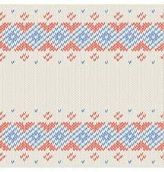 Winter knitted cards and templates vector