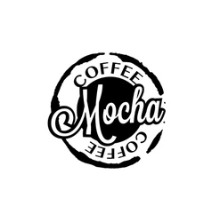 Mocha coffee stain badges black and white vector