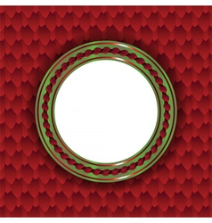 Christmas circle background vector