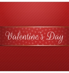 Realistic banner with valentines day text vector