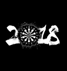 Abstract number 2018 and darts board vector