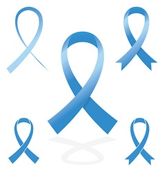 blue sign ribbon cancer symbol vector image vector image