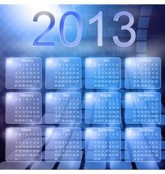 Calendar computer vector image