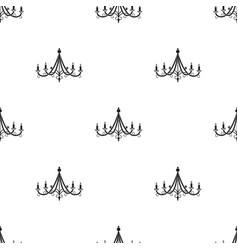 Chandelier icon in black style isolated on white vector