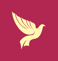 Christian symbol dove vector