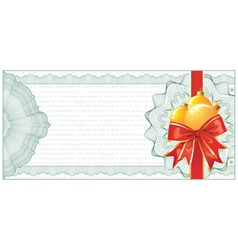 christmas gift certificate vector image