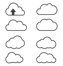 clouds icons vector image vector image