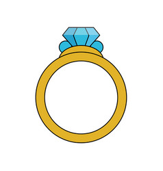 Color image diamond engagement ring vector