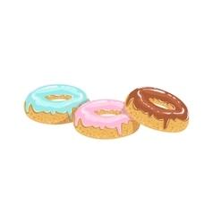 Doughnuts street food menu item realistic detailed vector