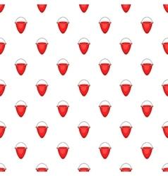 Fire bucket pattern cartoon style vector