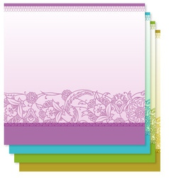 Four tiny floral backgrounds vector image