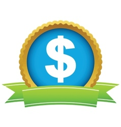 Gold dollar logo vector image