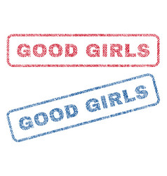 good girls textile stamps vector image