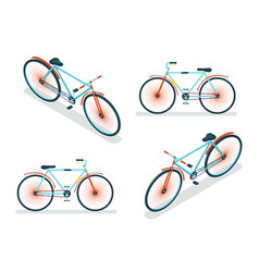 isometric bike icon 3d symbol flat design template vector image vector image