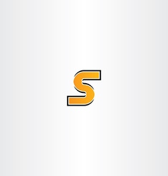 letter s orange icon logotype sign vector image