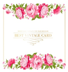 Luxurious vintage frame vector image vector image