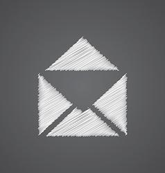 Mail sketch logo doodle icon vector