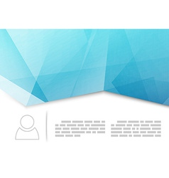 Modern crease brochure or booklet template vector image