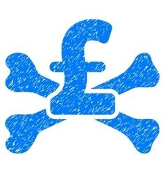 Pound Mortal Debt Grainy Texture Icon vector image vector image