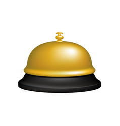 Service bell in black and golden design vector