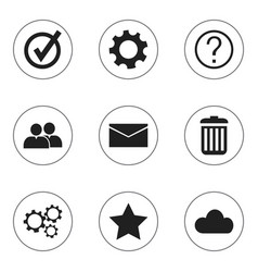 set of 9 editable internet icons includes symbols vector image vector image