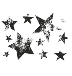 set of grunge stars vector image vector image