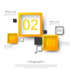 Square design infographic vector image