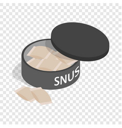 Swedish snus chewing tobacco isometric icon vector