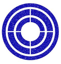 target icon grunge watermark vector image