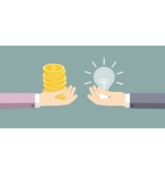 The exchange of ideas on the money vector image vector image
