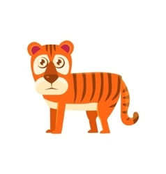 Tiger toy exotic animal drawing vector