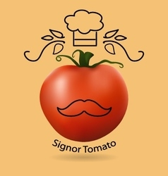 tomato and funny logo vector image vector image