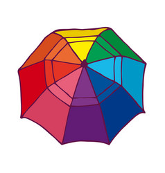 Top view colorful opened umbrella concept vector