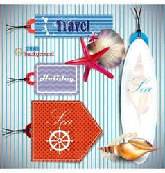 travel Labels and Tags vector image