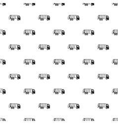 Truck for garbage pattern simple style vector