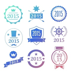 Typographic 2015 set vintage labels signs vector image vector image