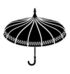 umbrella icon simple style vector image