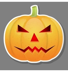 Halloween pumpkin isolated on grey background vector