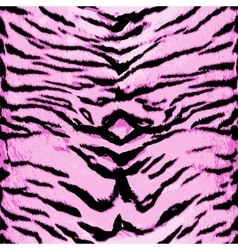 Pink tiger seamless pattern animal design vector