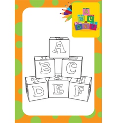 Letter cubes toys vector