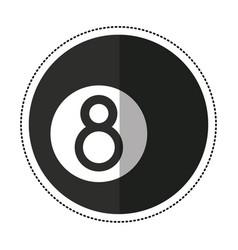 cartoon billiard ball eigh vector image