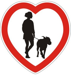 Symbol of space for walking dogs vector image