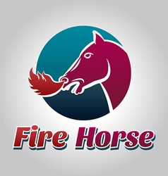Fire horse logo vector