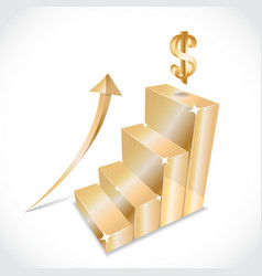 3D graphs vector image vector image
