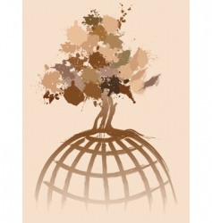 Ink splat tree world vector