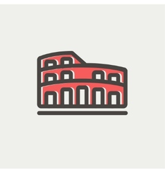 Coliseum thin line icon vector