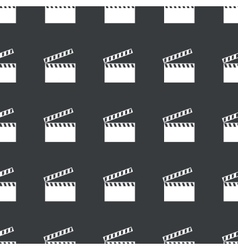 Straight black clapperboard pattern vector