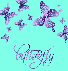 Spring butterfly color composition layered for vector